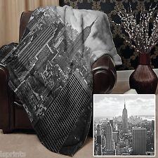 NOIR ET BLANC NEW YORK design Doux Couverture polaire Housse Couvre-lit GRAND