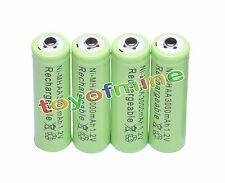 4x AA 2A 3000mAh 1.2V Ni-Mh Green Color Rechargeable Battery for RC MP3 Camera