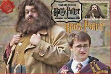 """Hagrid"" Harry Potter Stamps FDC on 4x6 Postcards Easily Framed Orlando 11/19"
