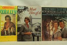lot lp records Christmas with Vera Lynn More Hits of the Blitz  Roy Rogers Dale