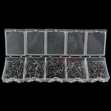 Lot 500 Fishing Hooks Barbed Stainless Strong Carp Coarse Fly Flies LRF #8-#12