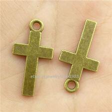 15794*40PCS Bronze Faith Religions Chirstian Cross Pendant Charm Alloy