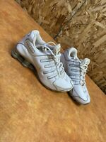 nike Shox 311574-103 Youth White with Silver trim Size 6yus 5.5uk 2006