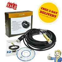 Snake Tube Pipe Inspection Camera 30ft Waterproof USB Video Sewer Plumming Tools