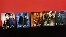 BBC SHERLOCK 1 2 3 4 Complete 3D Lenticular Magnetic Covers for BLURAY STEELBOOK