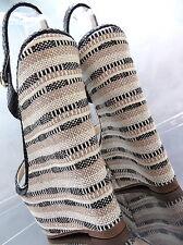NEU HOHE LACK SCHWARZ Plateau Damen Q43 Sandalen Wedge Pumps Keilabsatz Heels 39