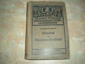 Buch Grundriss der Handelswissenschaft 1918