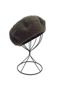 Khaki Green Faux Fur Beret Hat Adjustable BNWT Perfect Transitional Piece