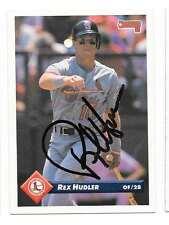 REX HUDLER 1993 DONRUSS AUTOGRAPHED SIGNED # 96 CARDINALS