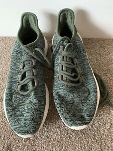 LADIES ADIDAS KHAKI GREEN FABRIC TRAINERS PUMPS SHOES UK SIZE 6 GREAT CONDITION