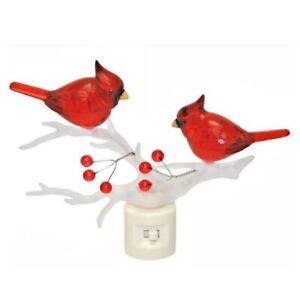 Cardinals on Branch LED Night Light 5.5 Inch