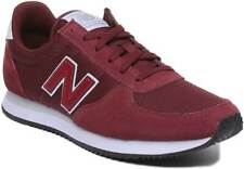 New Balance U220 Mens Lace Casual Suede Mesh Trainer In Burgundy Size UK 6 - 12