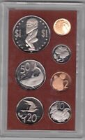 COOK ISLANDS - 7 DIF PROOF COINS SET: 1 CENT - 1$ 1973 YEAR MINT IN PLASTIC