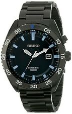 NEW Seiko SKA625 Men's Kinectic Automatic Black Dial Black PVD Steel Band Watch