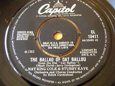 "NAT KING COLE & STUBBY KAYE - THE BALLAD OF CAT BALLOU  7"" VINYL"