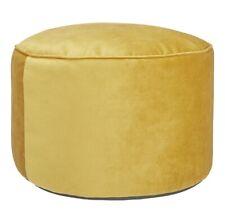 NEW John Lewis & Partners Velvet Pouffe H38 x Dia.55cm - Gold