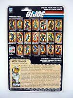 GI JOE SNOW JOB FILE CARD Vintage Action Figure FULL / UNCUT / GREAT SHAPE 1983