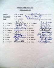 HAMPSHIRE 1984 COUNTY CHAMPIONSHIP – CRICKET OFFICIAL AUTOGRAPH TEAM SHEET