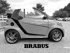 Genuine Smart fortwo (451) BRABUS thicker line in black set.