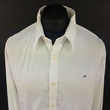 Tommy Hilfiger Mens Shirt 2XL Long Sleeve White Custom Fit No Pattern Cotton