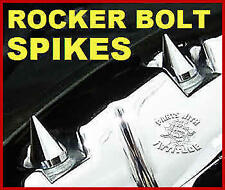 4 CHROME METAL SPIKE HARLEY ROCKER BOX BOLT CAPS  (88, 96, 103, ENGINES)