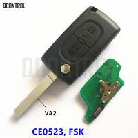 Remote Key fit PEUGEOT Expert Partner 207 307 308 407 807 CC SW CE0523 FSK ID46