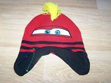 Toddler One Size Disney Cars Lightning McQueen Red Skull Cap Beanie Winter Hat