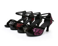 New Ballroom Latin/Tango/Jazz Suede Sole Heeled Dance Shoes Ladies/Girls/Women