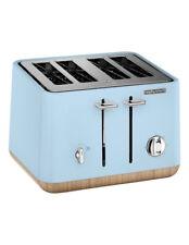 NEW Morphy Richards Scandi Aspects Wood 4 slice toaster:Azure 240008