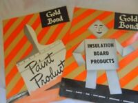2 Vintage Gold Bond Paint and Board Catalogs Advertising 1953 1954