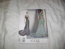 Vogue Pattern 2541 Rare Uncut Oscar de la Renta Evening Gown Sizes 8-10-12