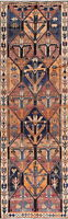 "Antique Geometric 12' RUNNER Bakhtiari Persian Hand-Knotted Rug 12' 0"" x 3' 9"""