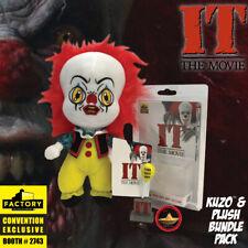 SDCC 2019 IT The Movie KUZO Georgie Boat Button & Pennywise Clown Plush Bundle