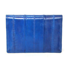 Genuine Eel skin Leather Business Credit Name Card Money Holder Case Wallet