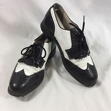 FootJoy Vintage Size 7 Womens Golf Shoes Black and White