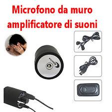 MICROFONO SPY MODELLO CLONE MURO PARETE PORTA SOFFITTO PAVIMENTO amplifica AUDIO