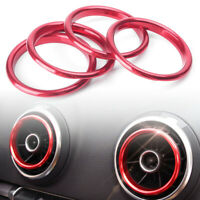 Interior Air Vent Outlet Ring Cover Trim 4pcs For Audi A3 8V 2012-2018