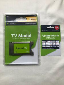 Freenet TV CI+ Modul mit 3 Monaten Guthaben und Guthabenkarte für 12 Monate