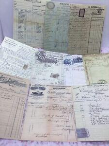 30 sheets vintage written receipt papers, junk journal, scrapbook  9cm x 6.5cm