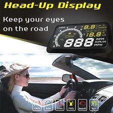"5.5"" Universal LCD Car OBD2 EOBD HUD Head Up Display Overspeed Warning System"