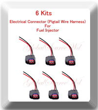 6 Kits Pigtail Connector of Fuel Injector FJ998 Fits: Ford Lincoln Mazda Mercury