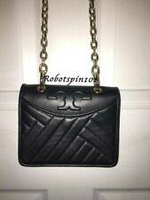 NWT TORY BURCH Alexa Mini Leather Chain Crossbody Shoulder Bag Purse Black