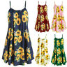US BOHO Womens Ladies Summer Beach Midi Dress Holiday Strappy Cami Sun Dresses