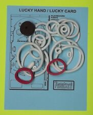 1977 Gottlieb Lucky Hand / Lucky Card pinball rubber ring kit