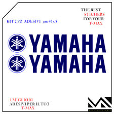 Serie Adesivi 2 pezzi Diapason e scritta Yamaha per T-max Tmax 500 colore Blu