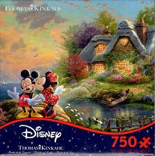 Disney & Thomas Kinkade: Mickey & Minnie Sweetheart Cove - New 750 Pc Puzzle