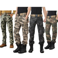 Military Men's Cotton Cargo Pants Combat Camouflage Camo Army Style Hd214