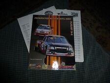 2001 FEDERATED AUTO PARTS 200 Race Program Nascar Craftsman Truck Series