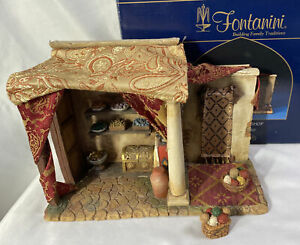 "RARE! Fontanini Nativity ~ JEWELRY / WEAVING SHOP 55564 ~ For 5"" Nativity IN BOX"