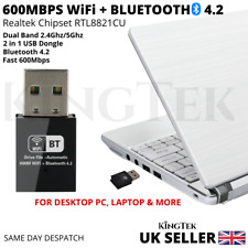 600Mbps WiFi Dongle and Bluetooth 4.2 | FOR PC & LAPTOP Dual Band USB Adaptor UK